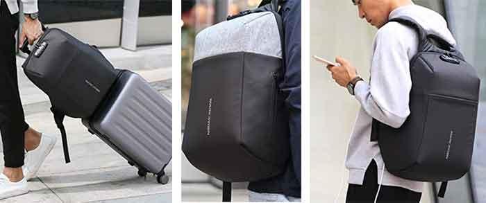 Detalles reales de la mochila de seguridad Mark Ryden 6768