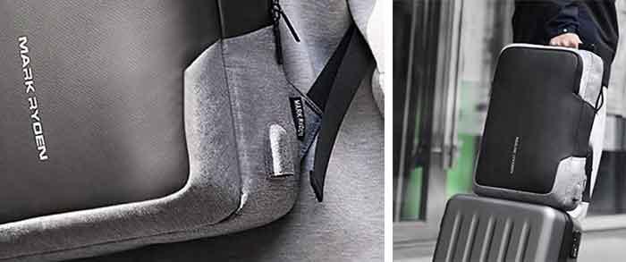 Detalles de la mochila antirrobo Mark Ryder NOX