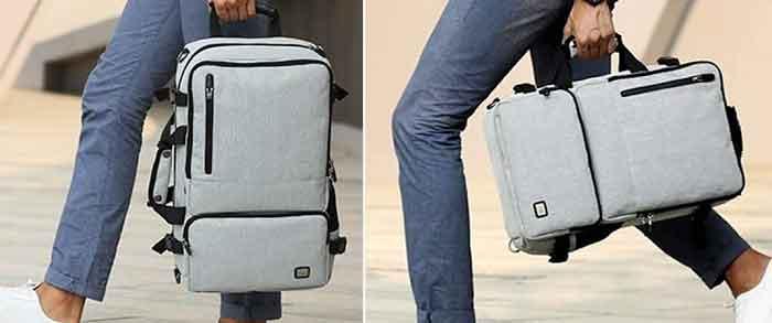 Imágenes reales de los posibles usos de la mochila Antirrobo Mark Ryden ZEN