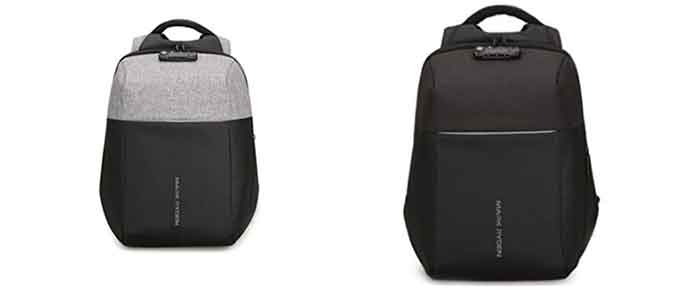 Los colores disponibles para la mochila de seguridad Mark Ryden MR 6768 son negro y negro-gris