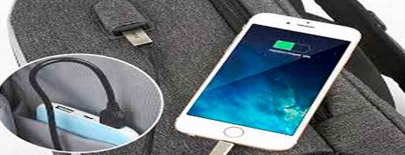 Mochilas antirrobo con cargador USB integrado