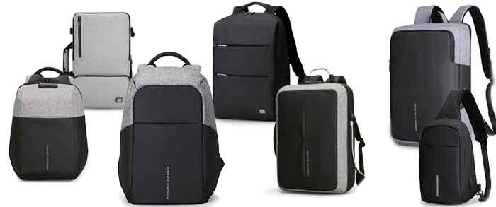 Modelos de mochilas antirrobo de la marca Mark Ryden